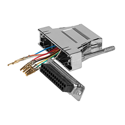 Adaptador sub D<br /> configurable 25 H / RJ45
