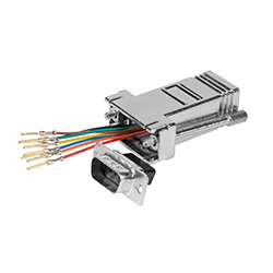 Adaptador sub D<br /> configurable 9 M / RJ45