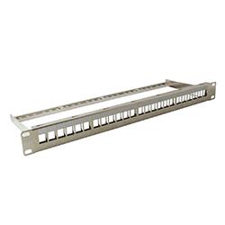 Panel modular 16 huecos 19' 1U<br /> acero inoxidable